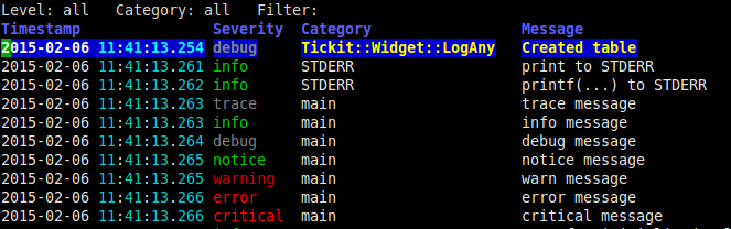 Log::Any output displayed in Tickit widget